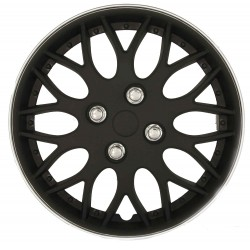 Black/silver wheel trims