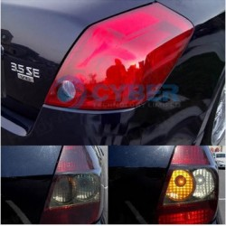 Red Headlight Tinting Film - 60cm x 30cm roll