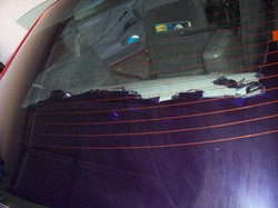 Cheap window tint going purple