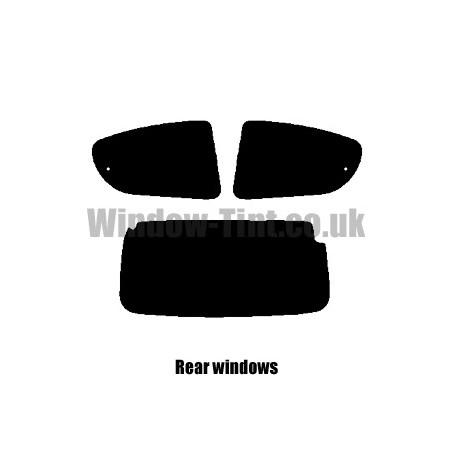 FULL PRE CUT WINDOW TINT KIT PEUGEOT 107 5-DOOR 2005