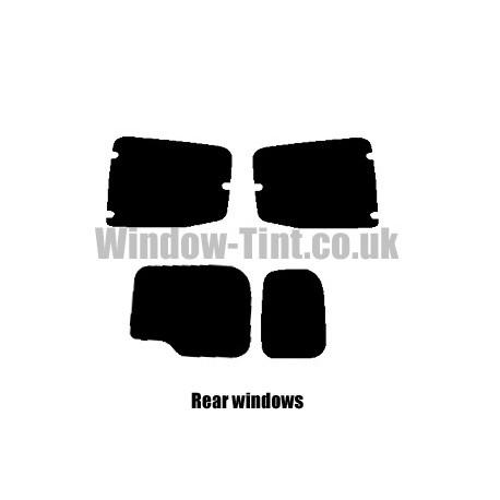 FIAT FIORINO COMBI 2007 FULL PRE CUT WINDOW TINT